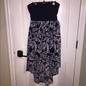 Forever21 Strapless Navy Dress